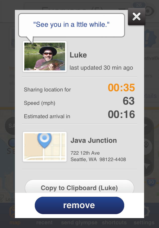Glympse - Share location with friends screenshot-5